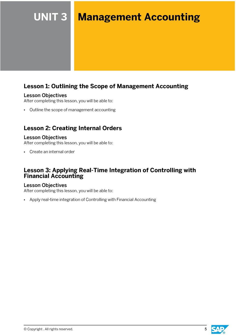 order Lesson 3: Applying Real-Time Integration of Controlling with Financial Accounting