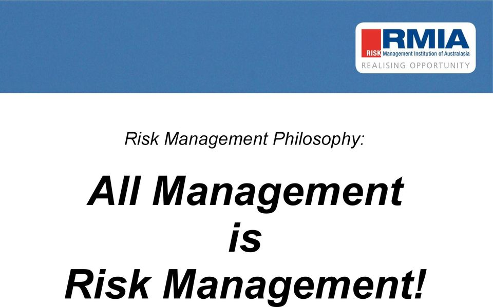 Management is !