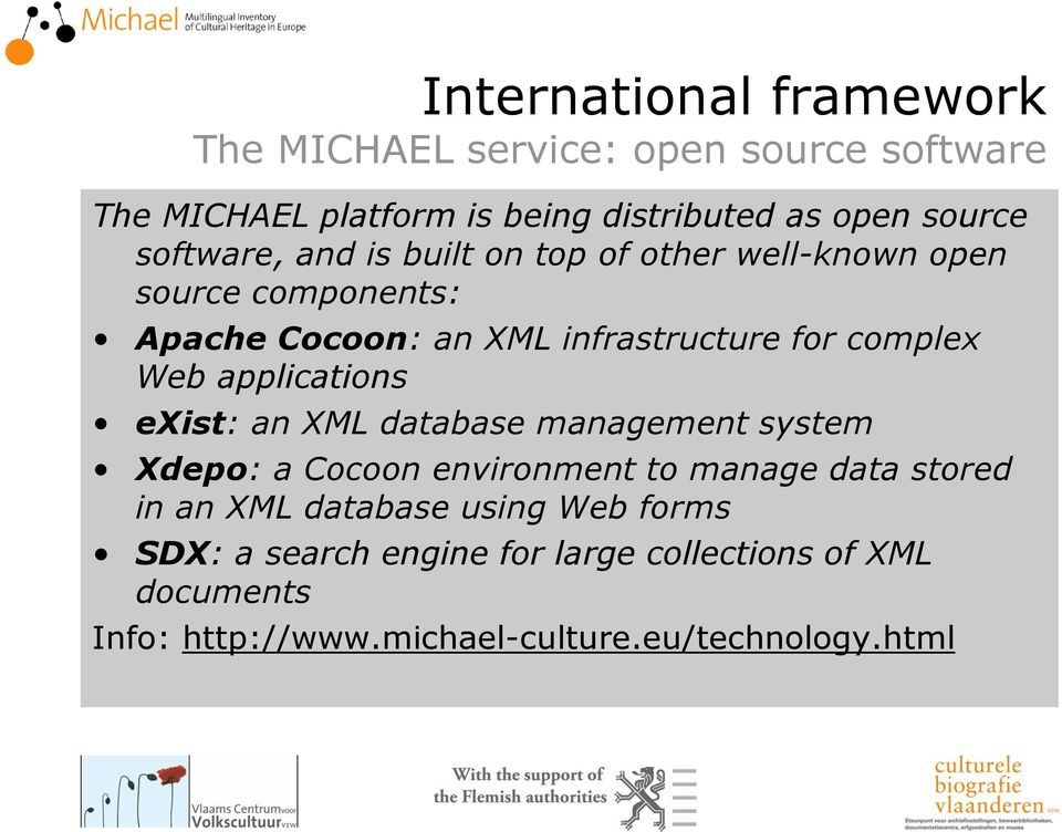 Web applications exist: an XML database management system Xdepo: a Cocoon environment to manage data stored in an XML