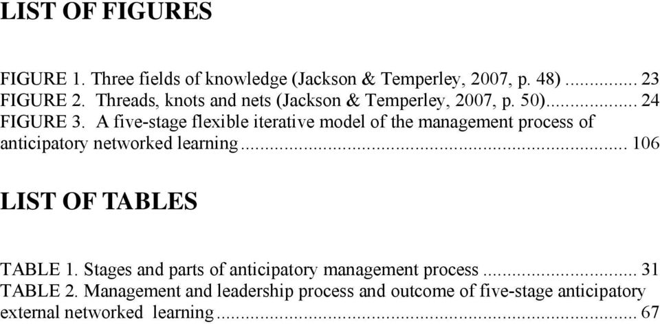 A five-stage flexible iterative model of the management process of anticipatory networked learning.