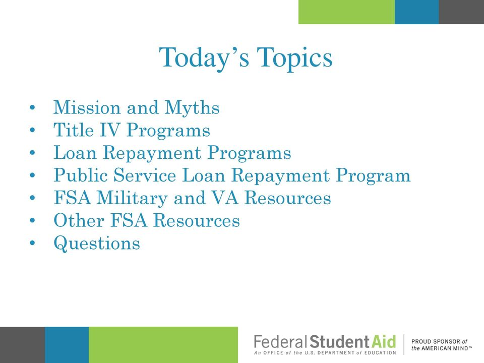 Service Loan Repayment Program FSA