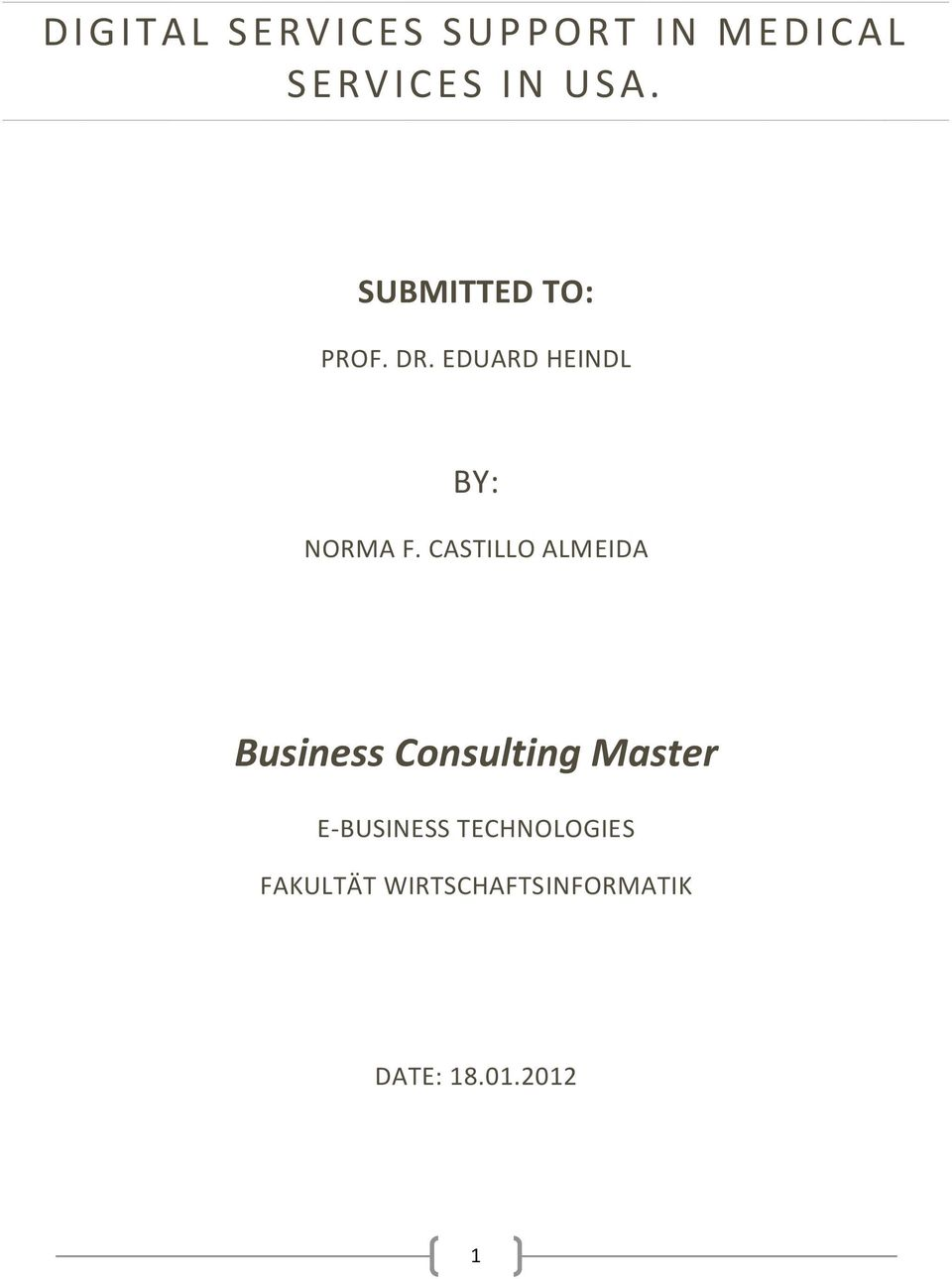 CASTILLO ALMEIDA Business Consulting Master E-BUSINESS