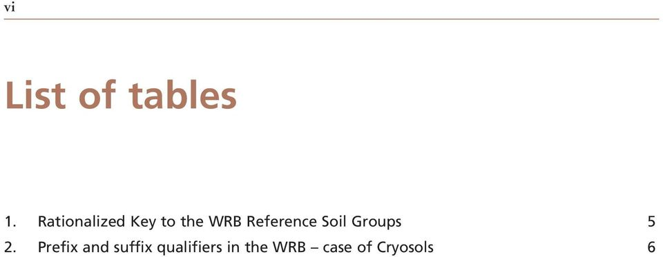 Reference Soil Groups 5 2.