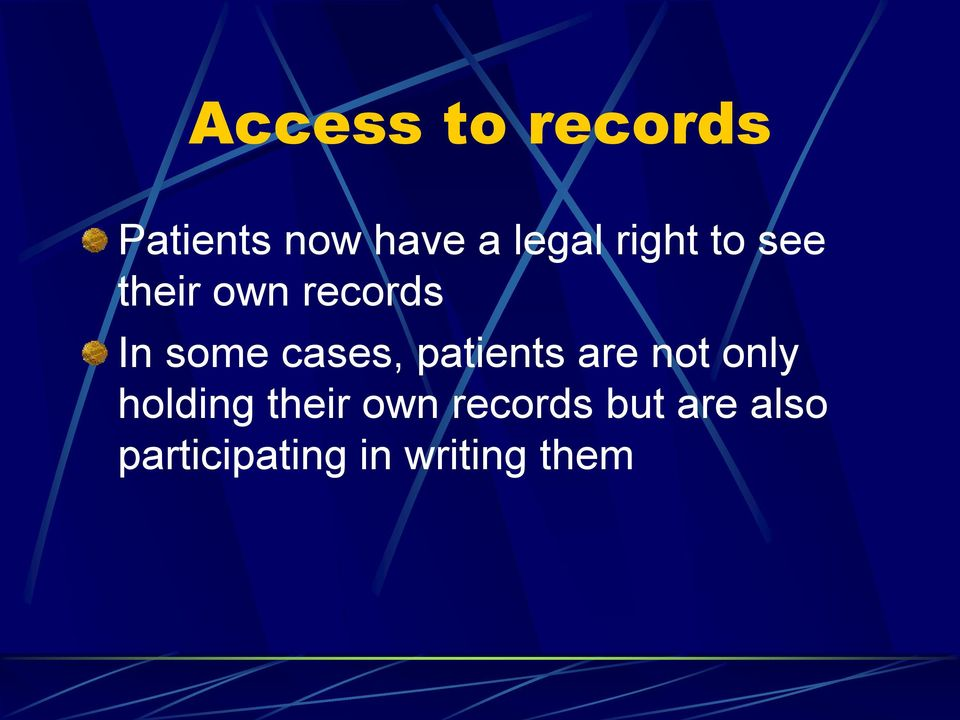 cases, patients are not only holding their