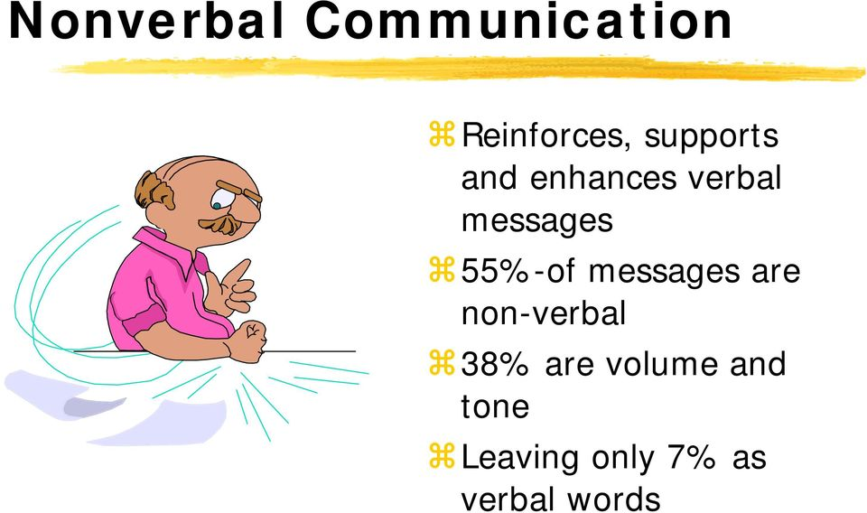 55%-of messages are non-verbal 38% are