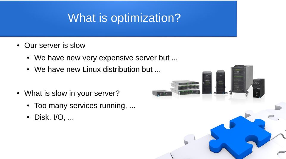 server but... We have new Linux distribution but.