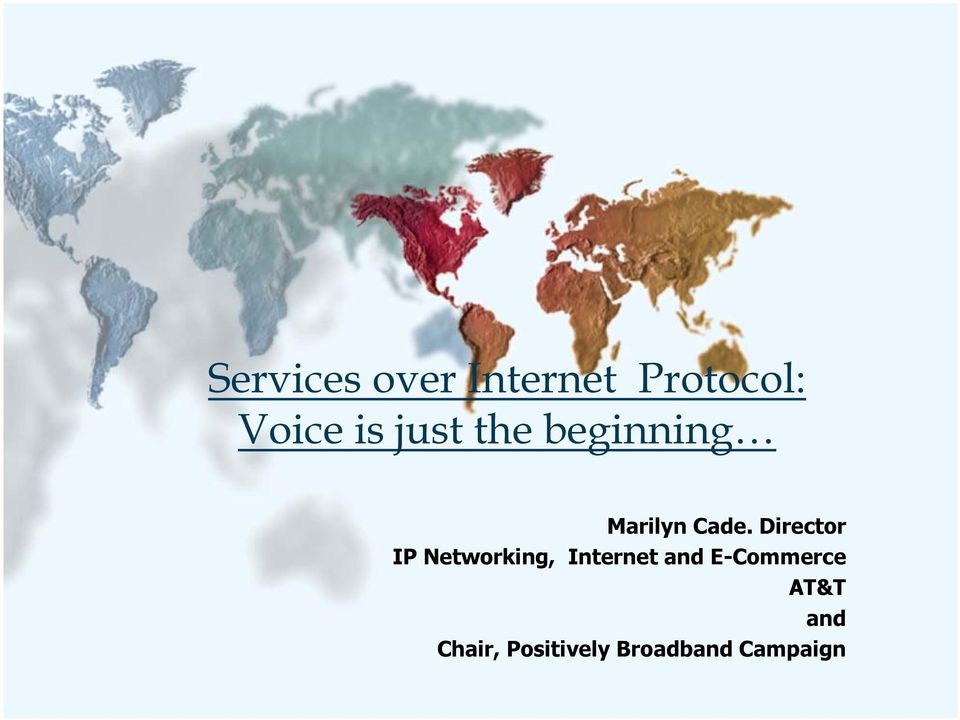 Director IP Networking, Internet and