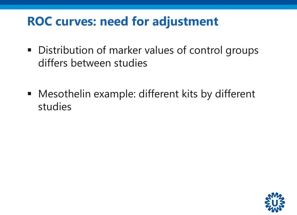 control groups differs between studies