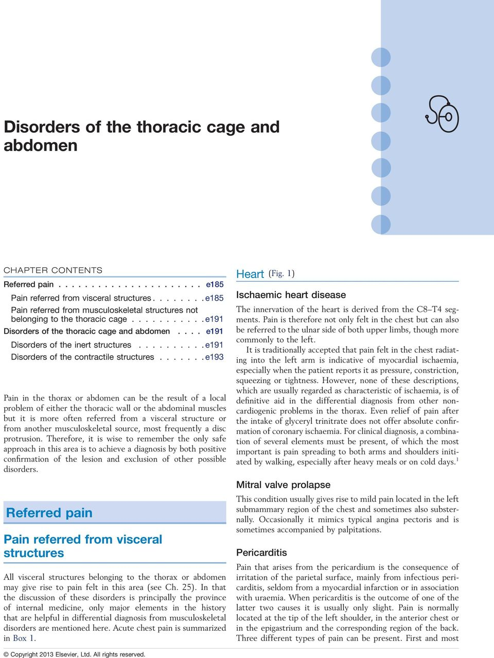......... e191 Disorders of the contractile structures.