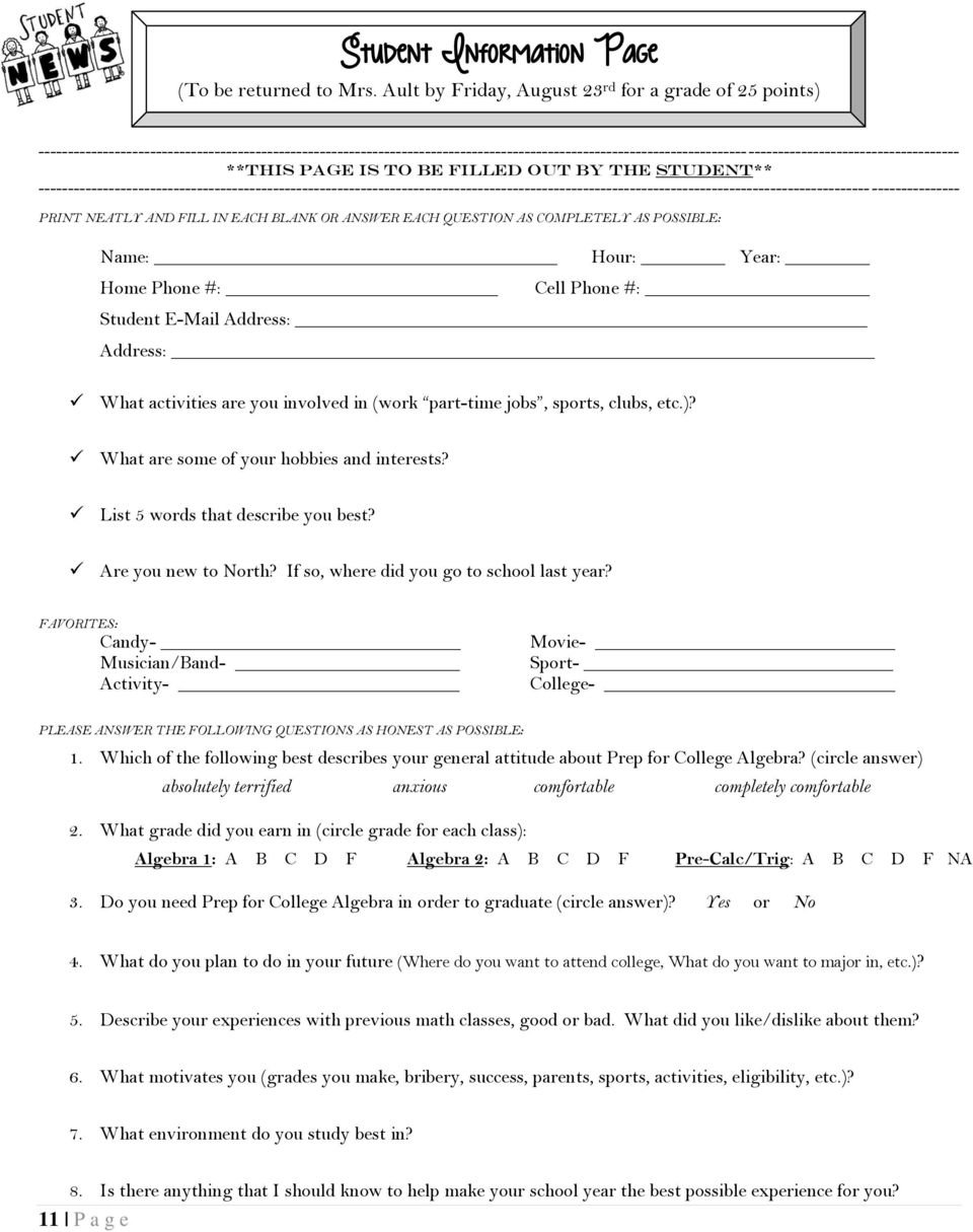 ------------------------------------------------------------------------------------------------------------------------------------------------------------- **This Page is to be filled out by The