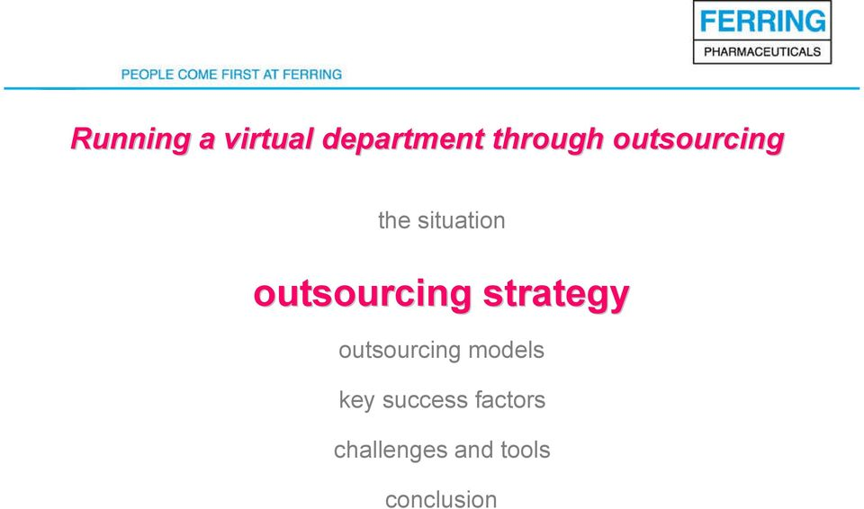 strategy outsourcing models key