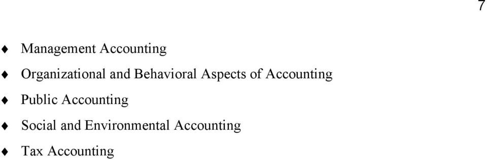 Aspects of Accounting Public