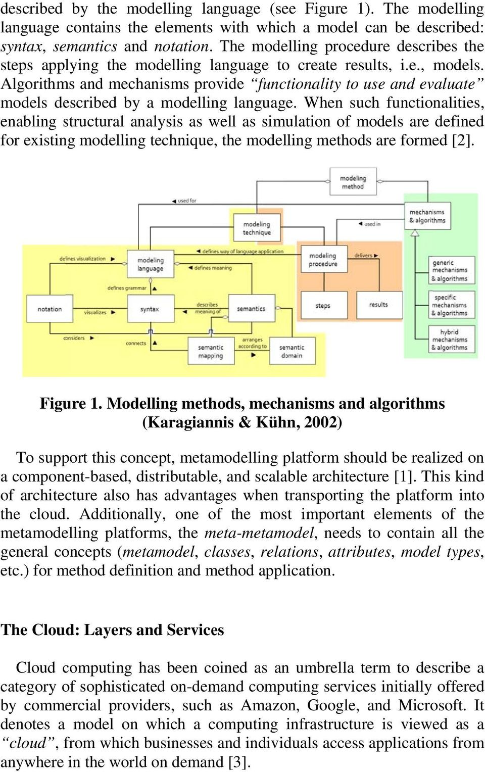 Algorithms and mechanisms provide functionality to use and evaluate models described by a modelling language.