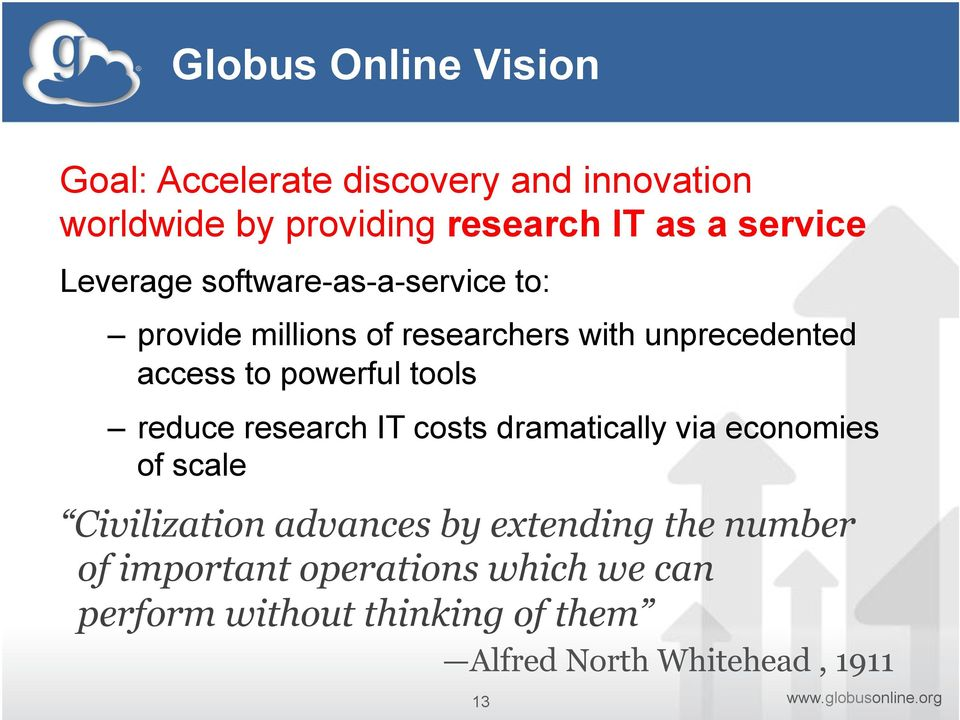 powerful tools reduce research IT costs dramatically via economies of scale Civilization advances by