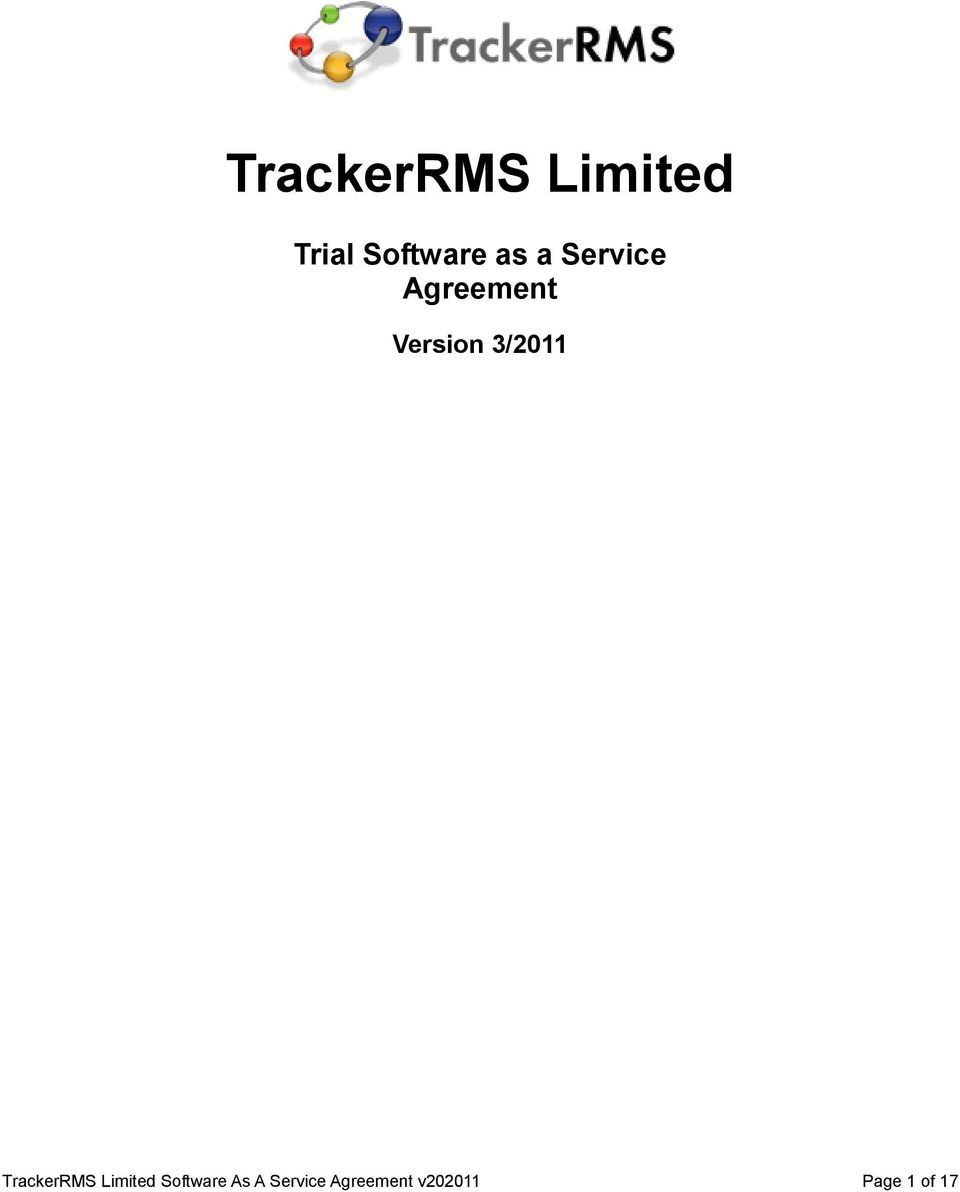 3/2011 TrackerRMS Limited Software
