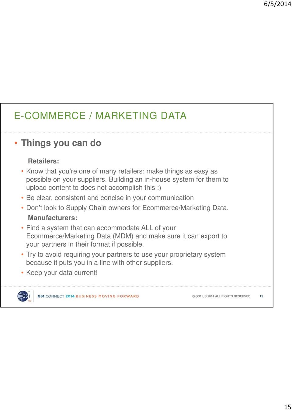 owners for Ecommerce/Marketing Data.