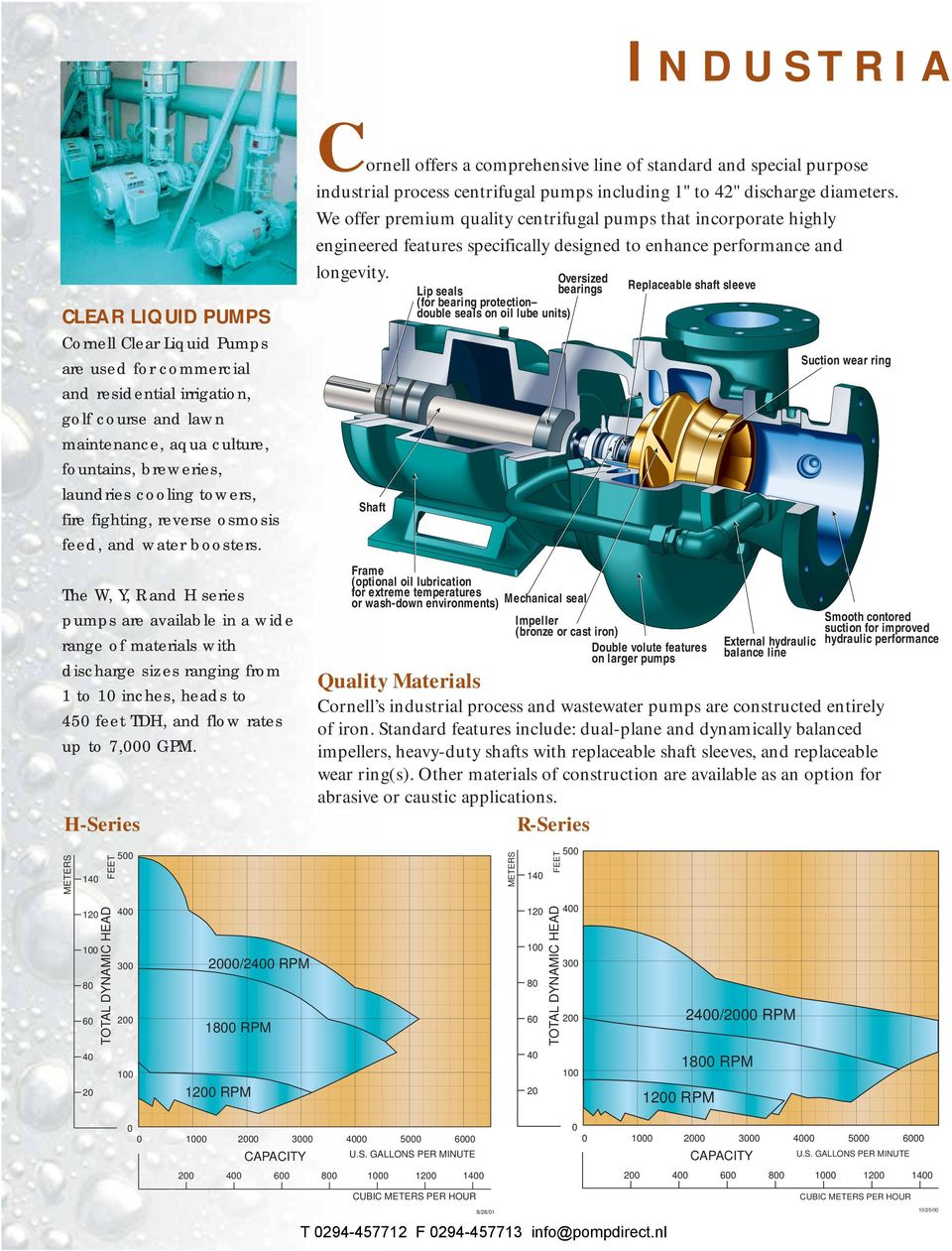 CORNELL PUMP COMPANY Industrial Pumps - PDF