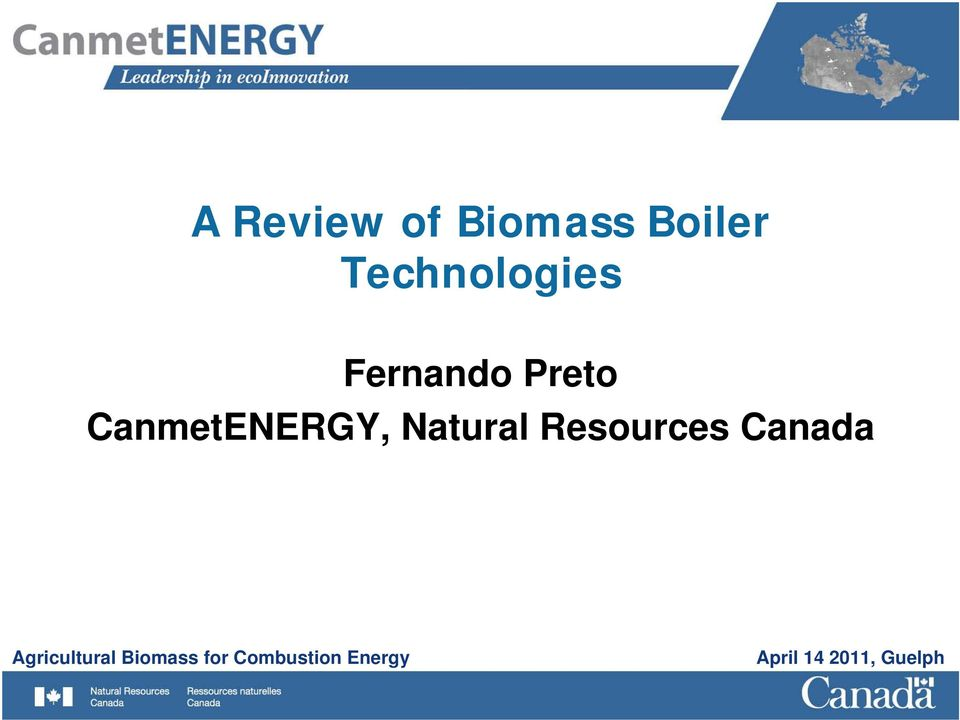 Resources Canada Agricultural Biomass
