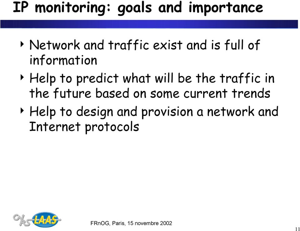 be the traffic in the future based on some current trends 4