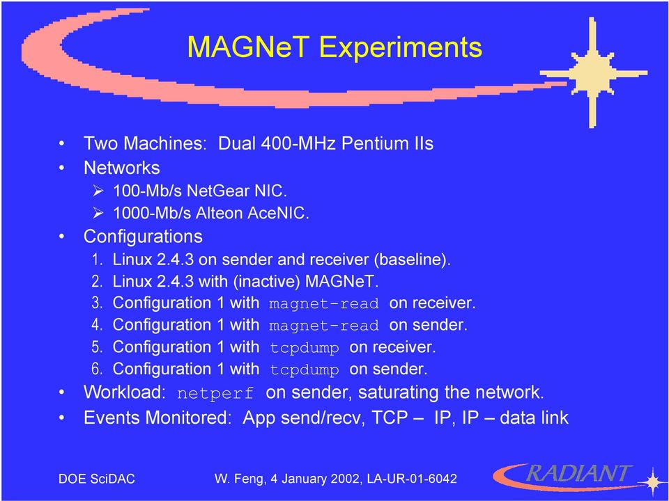 Configuration 1 with magnet-read on receiver. 4. Configuration 1 with magnet-read on sender. 5.
