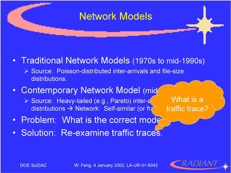 Contemporary Network Model (mid-1990s to now) Source: Heavy-tailed (e.g.