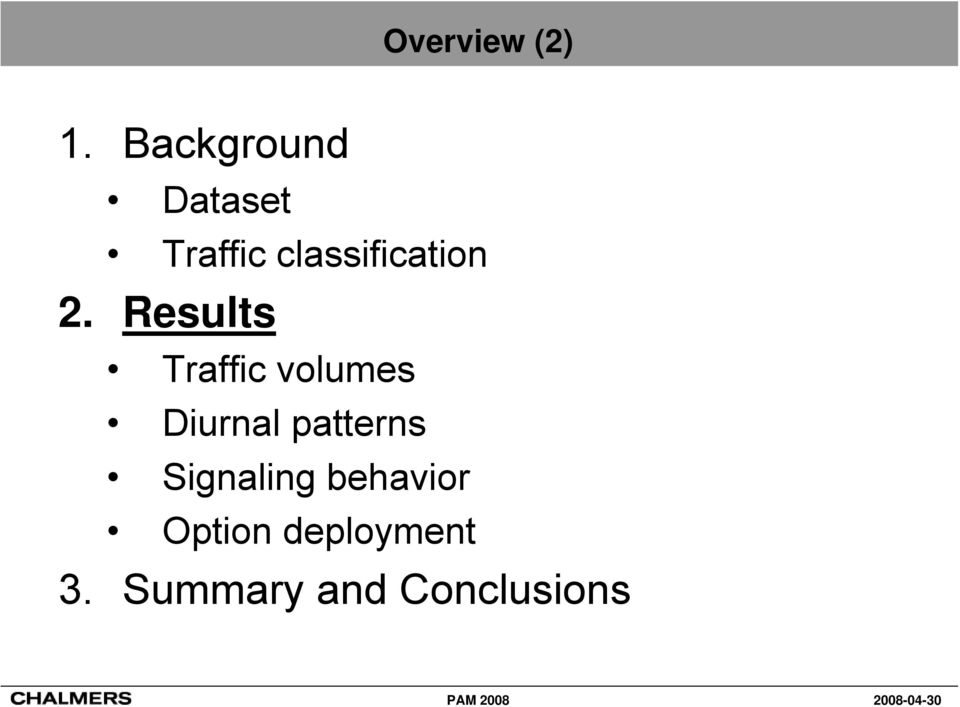 2. Results Traffic volumes Diurnal