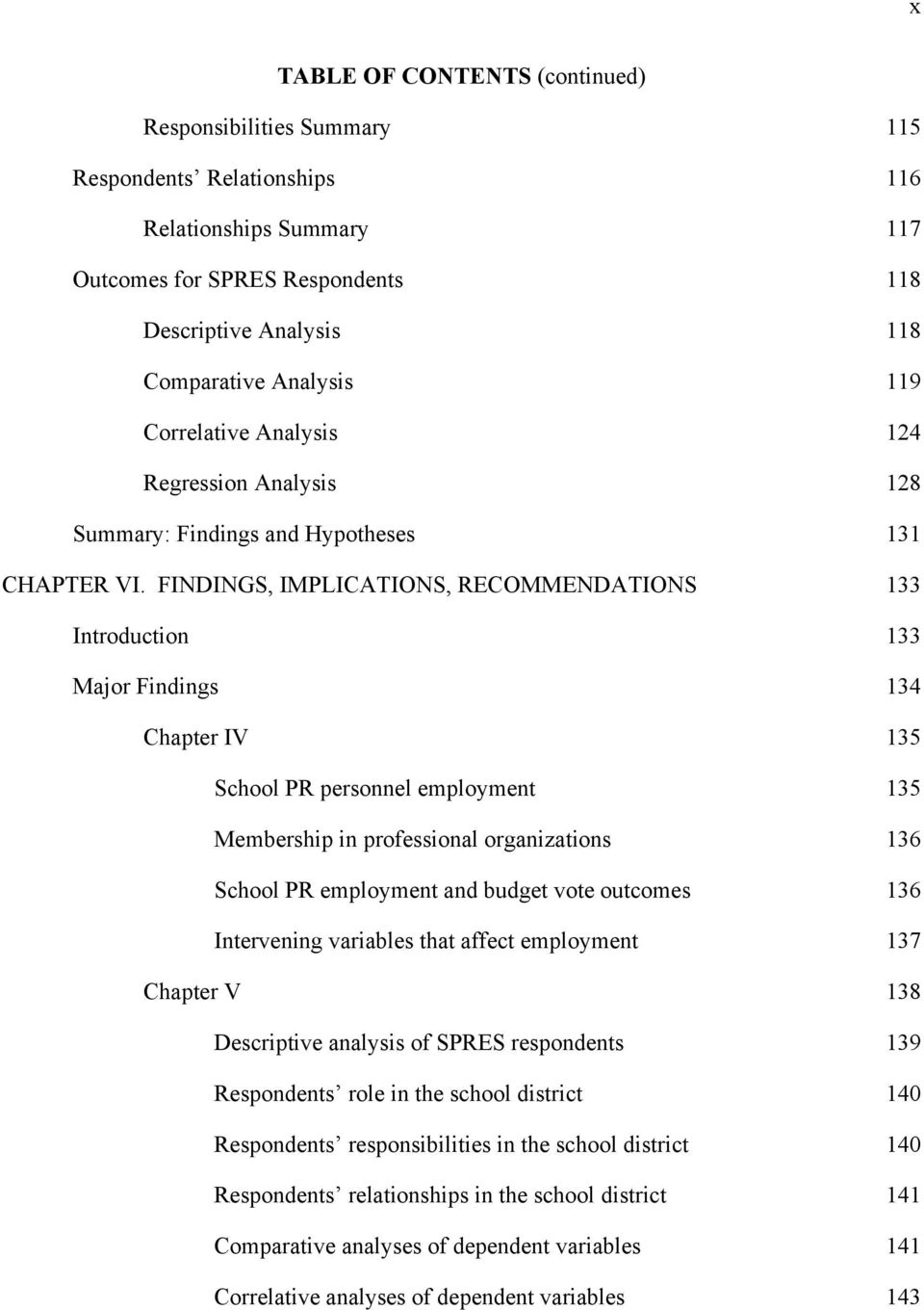 FINDINGS, IMPLICATIONS, RECOMMENDATIONS 133 Introduction 133 Major Findings 134 Chapter IV 135 School PR personnel employment 135 Membership in professional organizations 136 School PR employment and