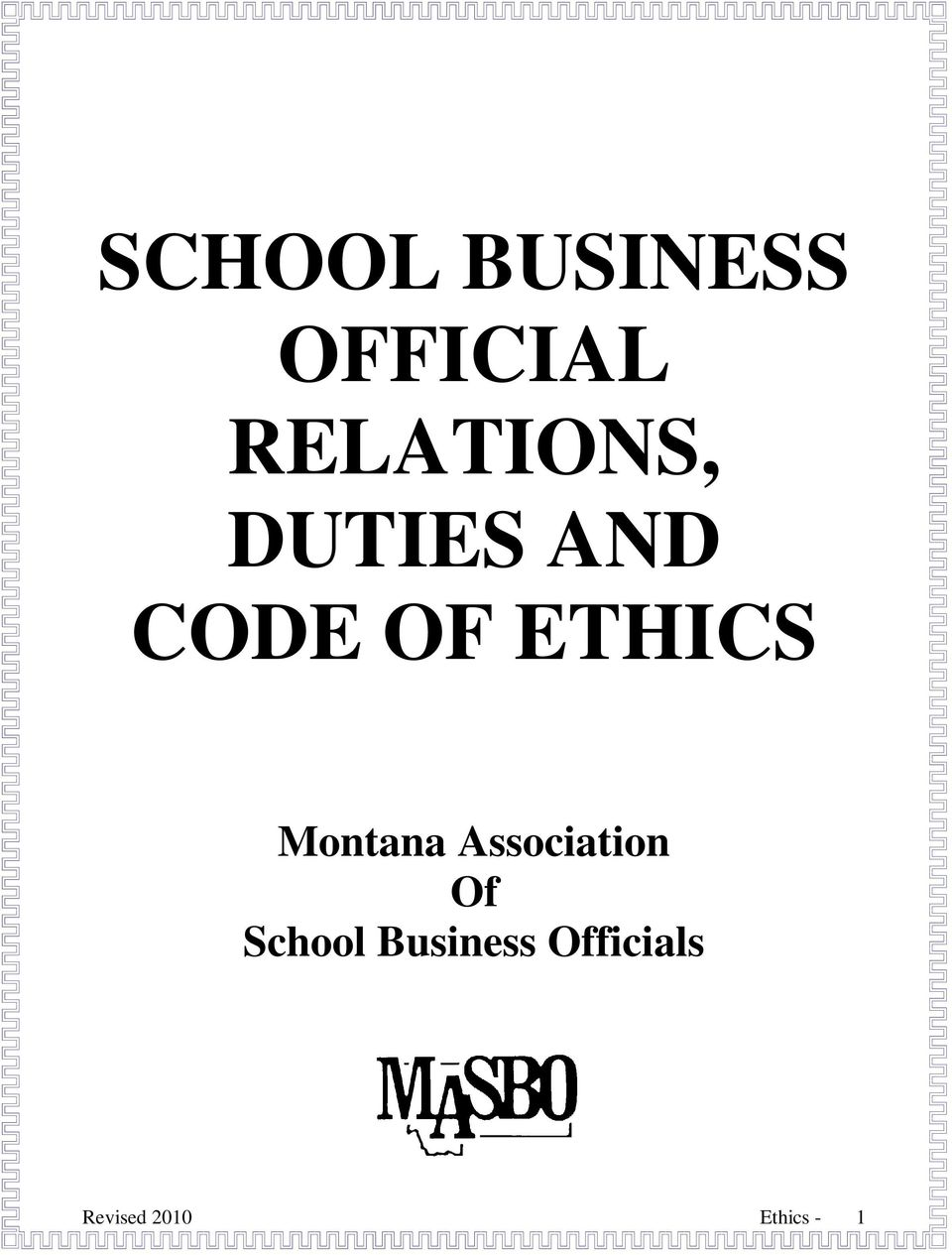 ETHICS Montana Association Of