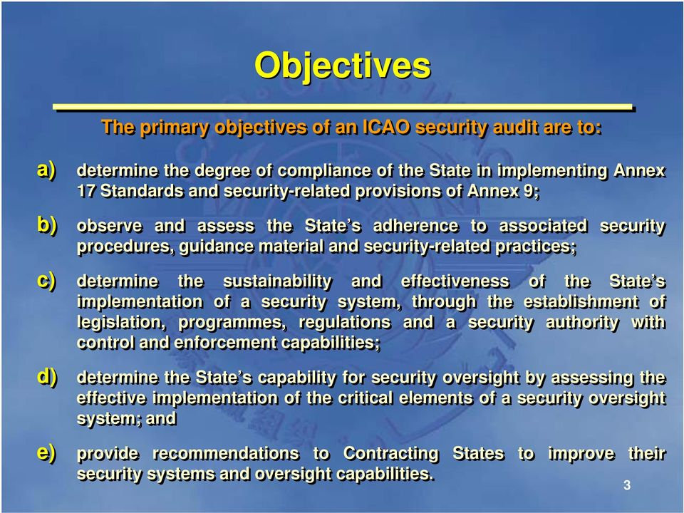 THE UNIVERSAL SECURITY AUDIT PROGRAMME (USAP) - PDF