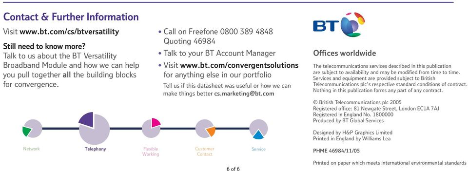 bt.com/convergentsolutions for anything else in our portfolio Tell us if this datasheet was useful or how we can make things better cs.marketing@bt.