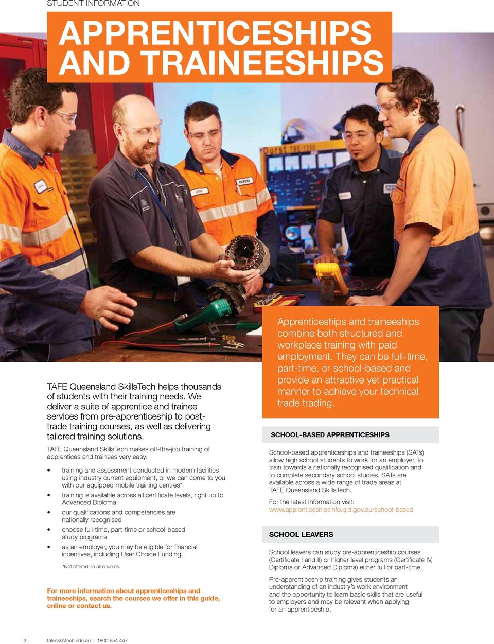 TAFE QUEENSLAND SKILLSTECH 2016 COURSE GUIDE JOB-FOCUSED