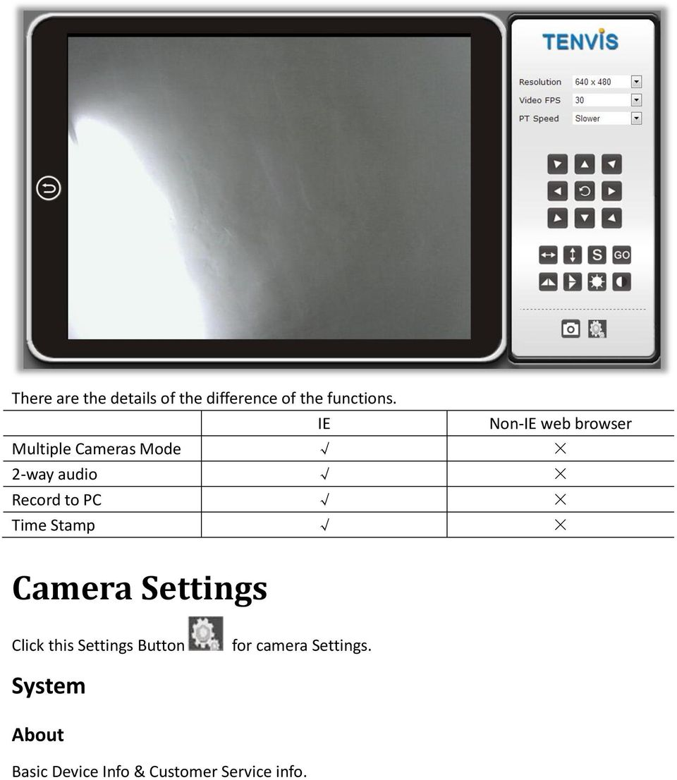 to PC Time Stamp Camera Settings Click this Settings Button for