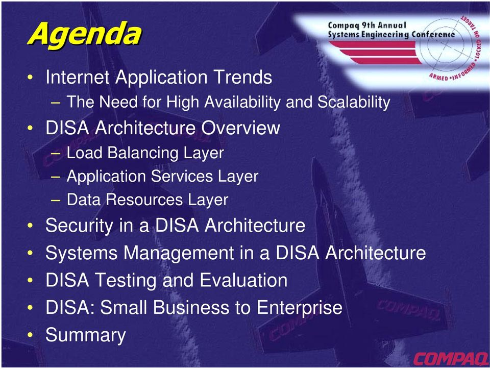 Data Resources Layer Security in a DISA Architecture Systems Management in a