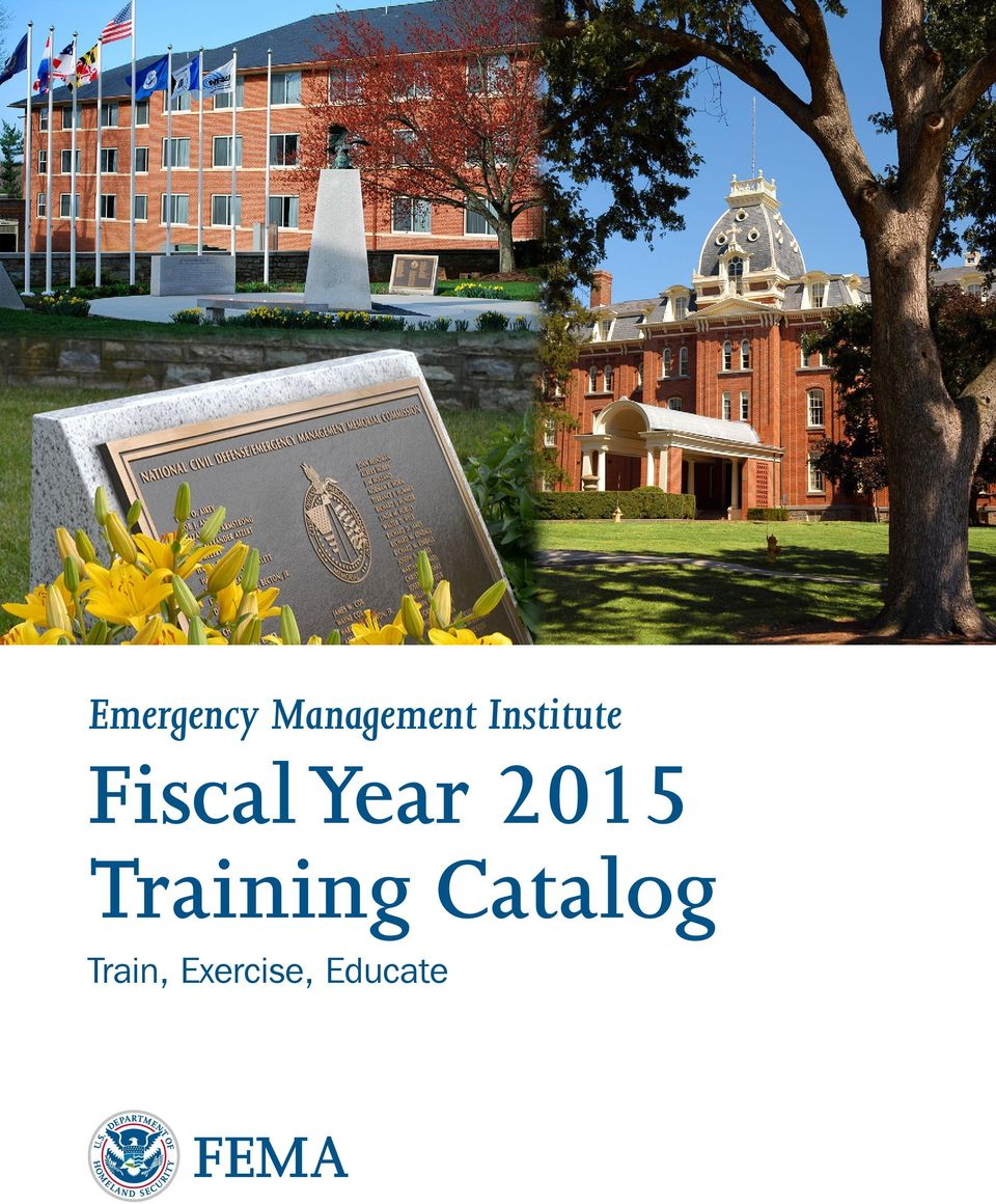 2015 Training Catalog