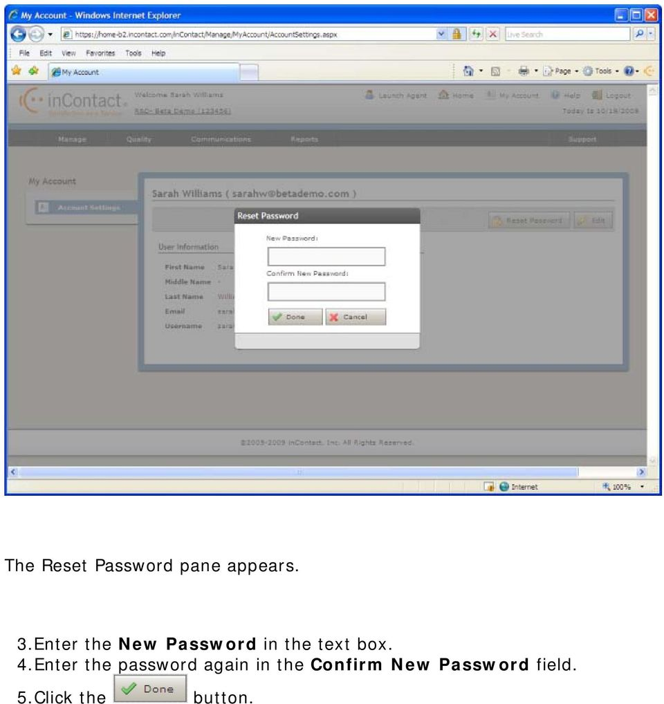 4.Enter the password again in the