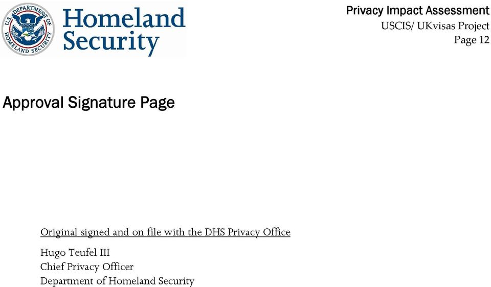 DHS Privacy Office Hugo Teufel III