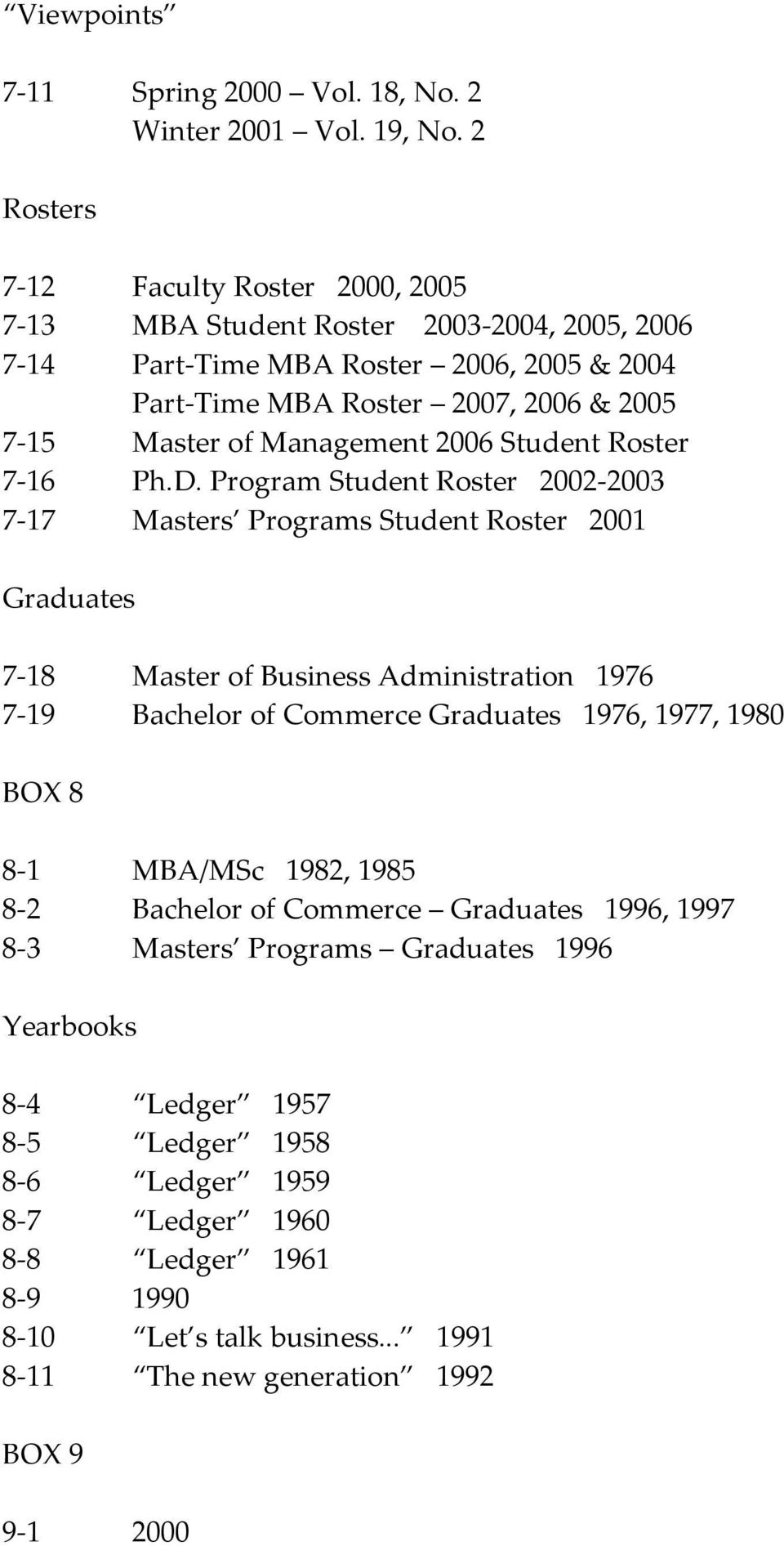 Management 2006 Student Roster 7-16 Ph.D.