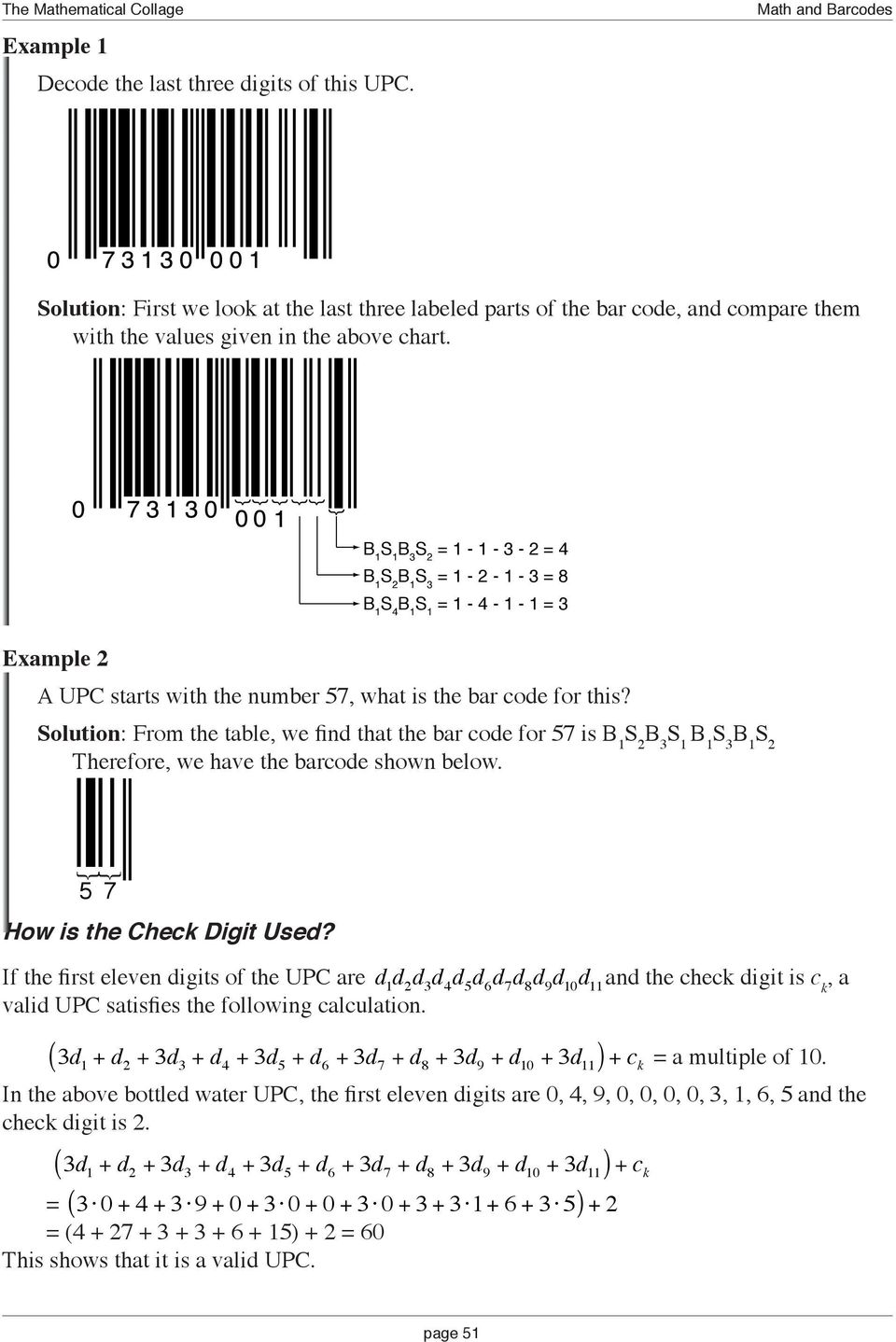 MATHEMATICAL EXCURSIONS Math and Bar Codes - PDF