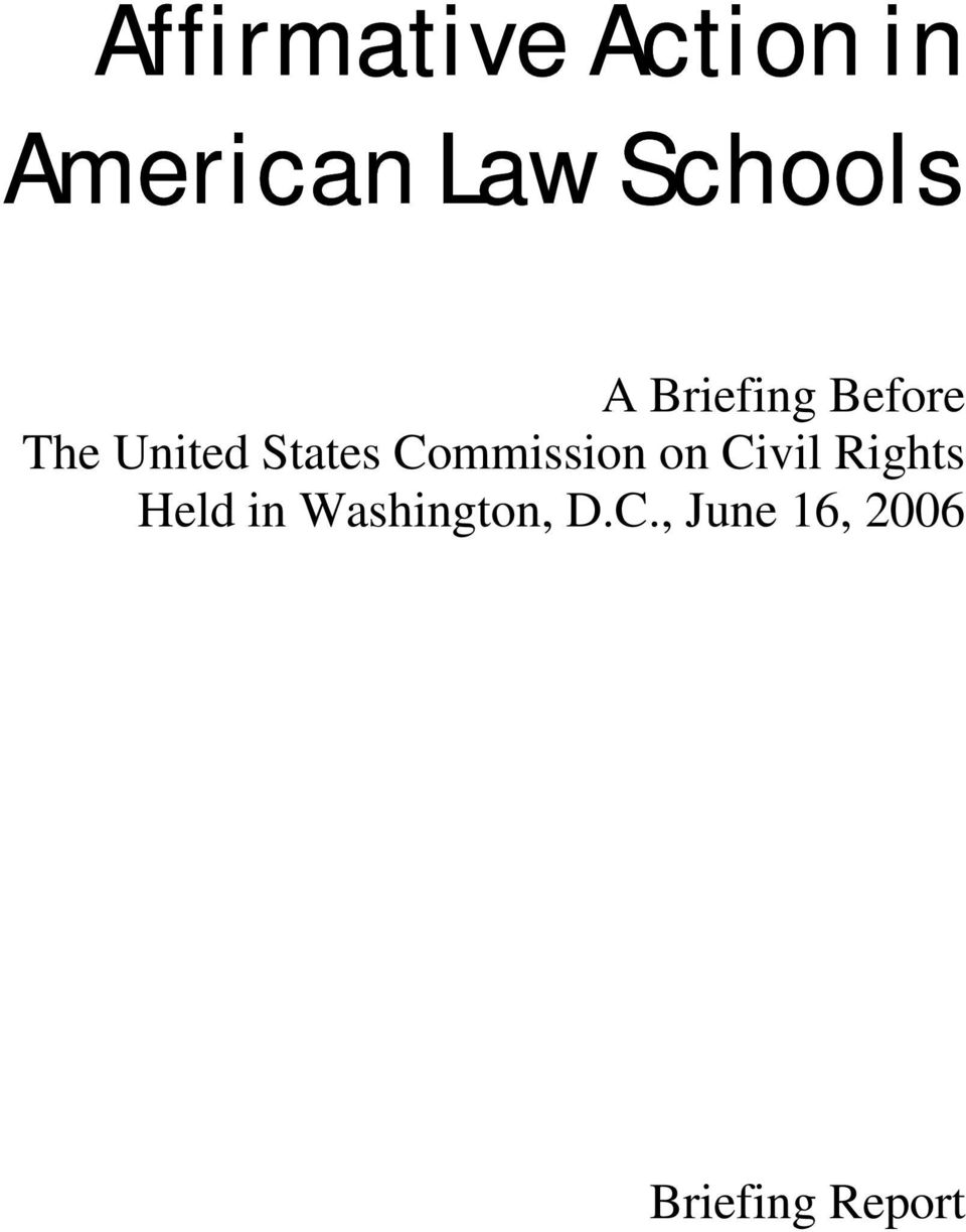 States Commission on Civil Rights Held