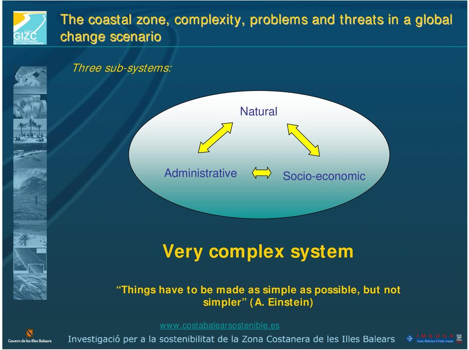 Administrative Socio-economic Very complex system Things