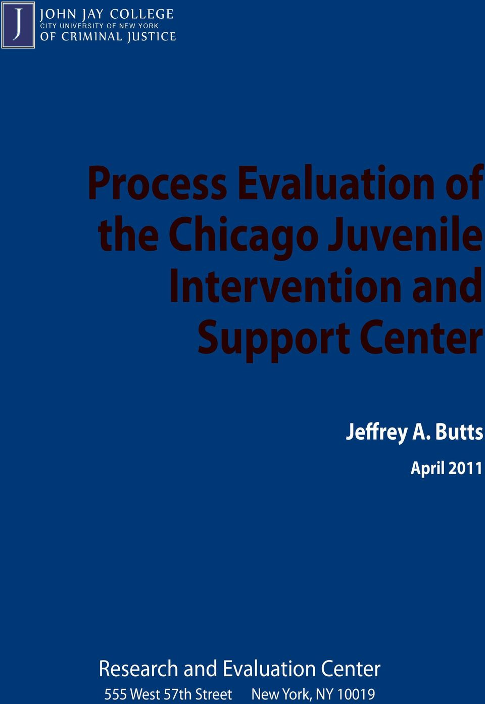 Intervention and Support Center Jeffrey A.
