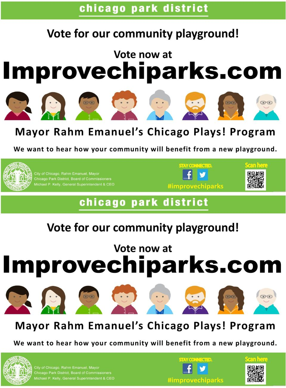 Program We want to hear how your community will benefit from a new playground.
