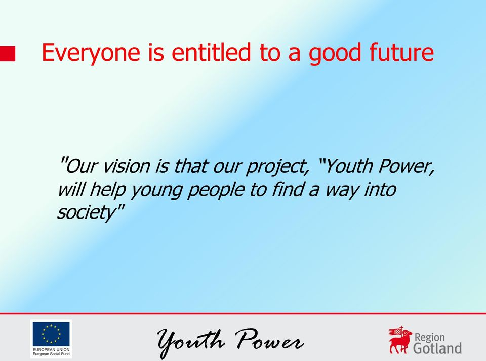 help young people to