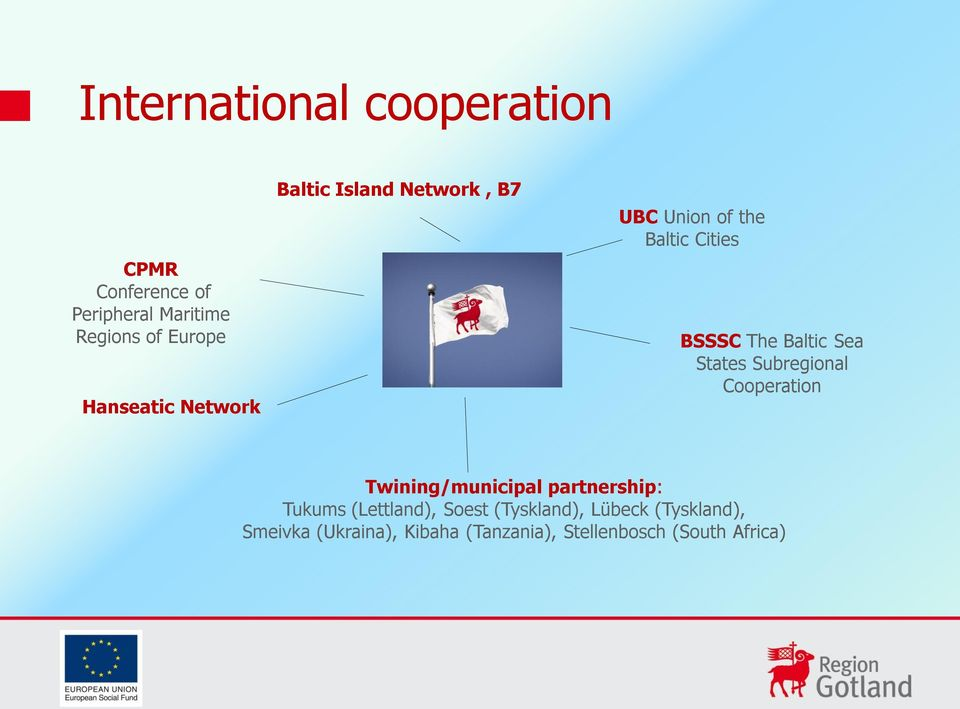 Baltic Sea States Subregional Cooperation Twining/municipal partnership: Tukums