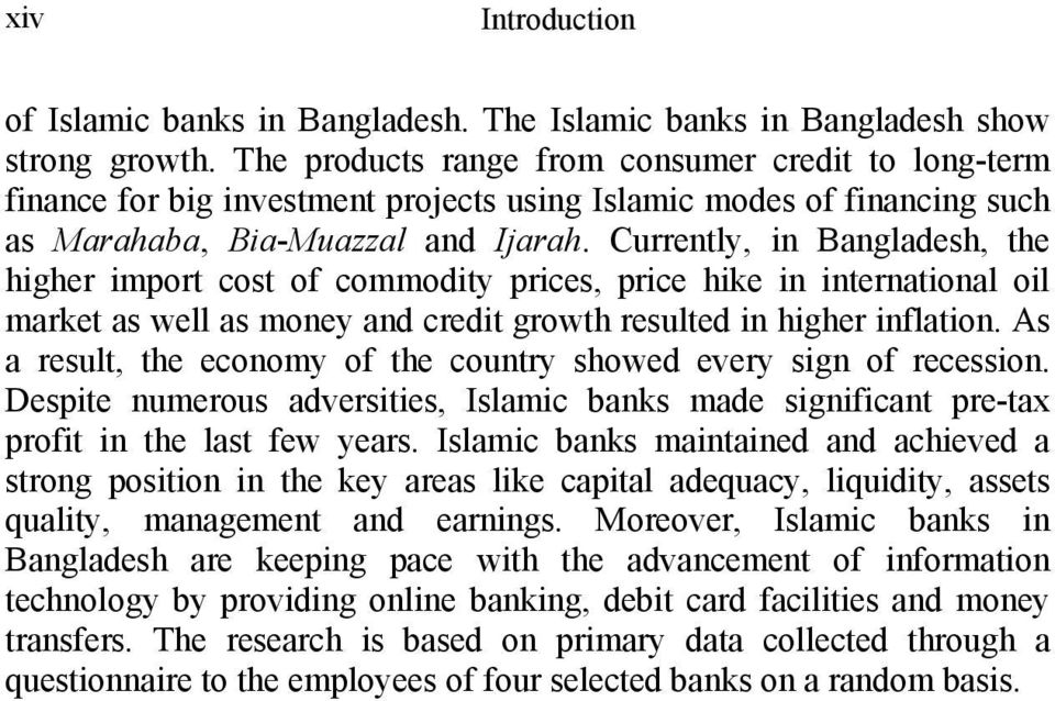 Islamic banking : a survey.