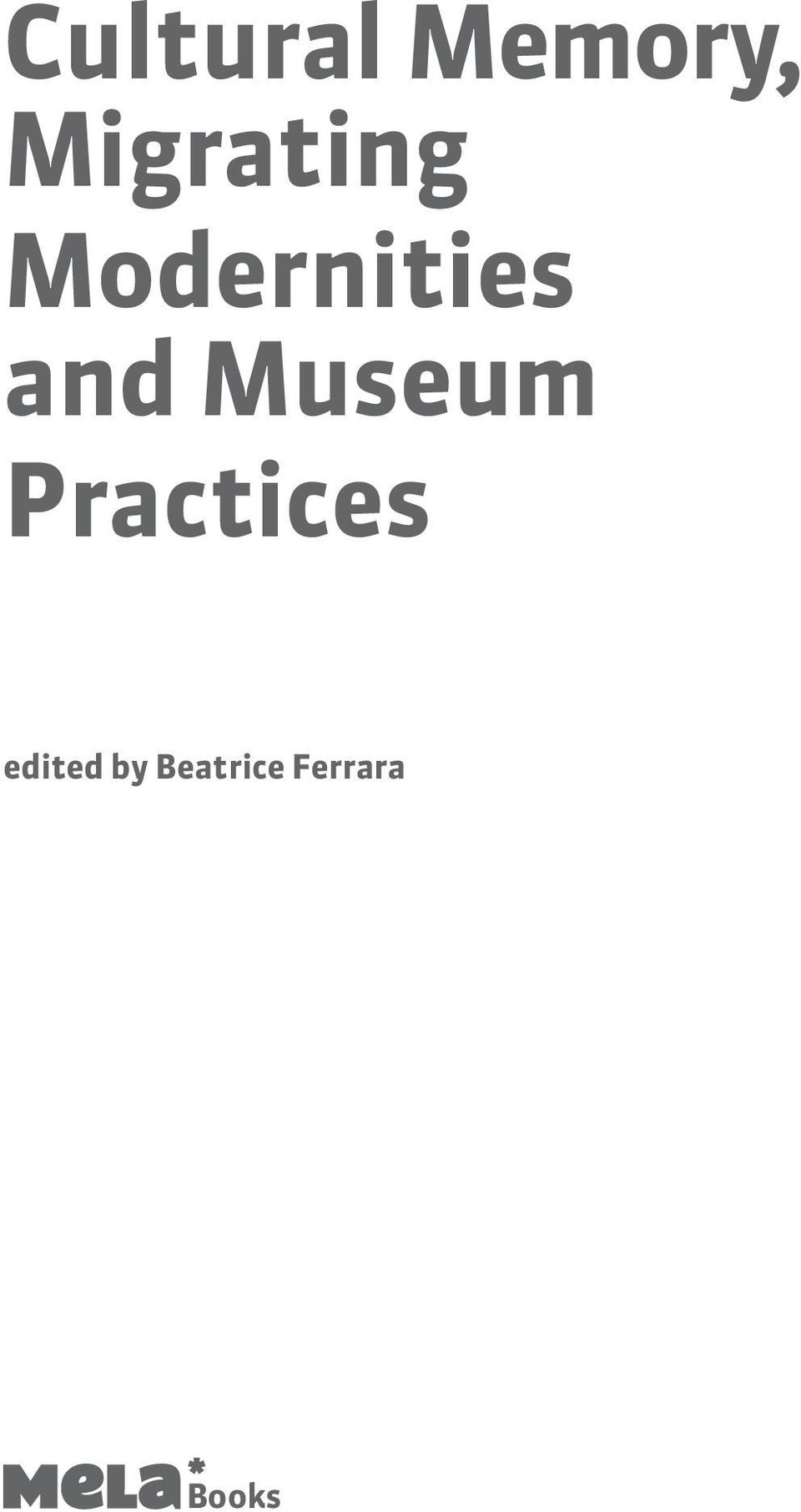 and Museum Practices