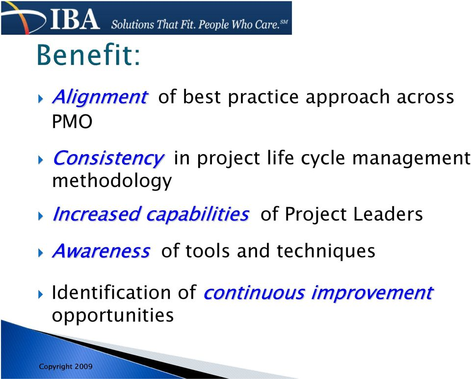 capabilities of Project Leaders Awareness of tools and