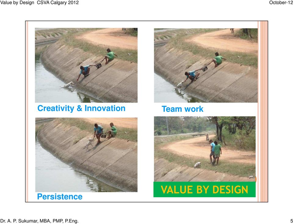 VALUE BY DESIGN Dr. A. P.