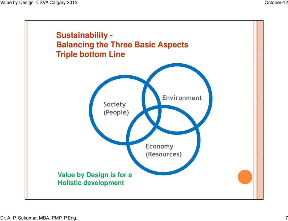 Economy (Resources) Value by Design is for a