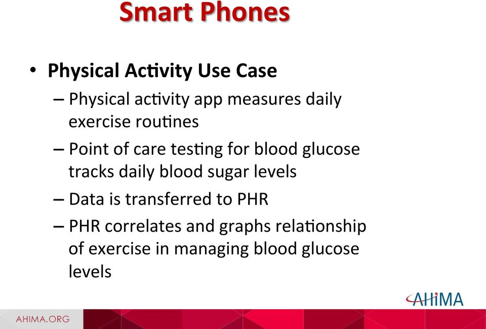 glucose tracks daily blood sugar levels Data is transferred to PHR